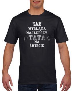 Koszulka męska NAJLEPSZY TATA DZIEN OJCA c XL
