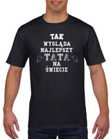 Koszulka męska NAJLEPSZY TATA DZIEN OJCA c XXL