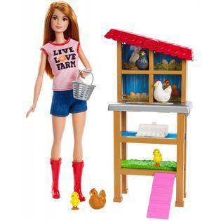 Mattel Lalka Barbie Farmerka z kurnikiem