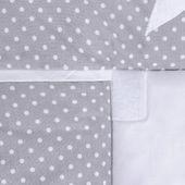 Lulando Mata na przewijak, Kropki Białe na Szarym-Gwiazdki, 75x80 cm zdjęcie 5