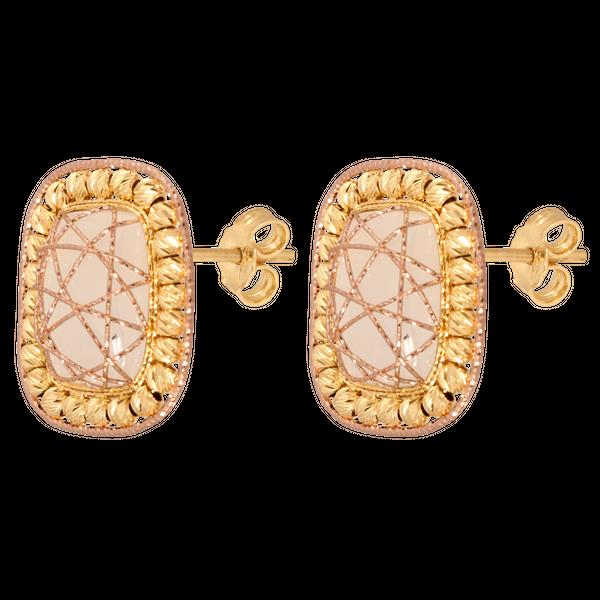 1b084c29f6a78c kolczyki ze sztyftem złoto 585/14k i kamienie księżycowe zdjęcie 1
