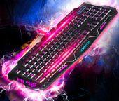 Podświetlana Klawiatura gamingowa dla graczy LED M166 zdjęcie 7