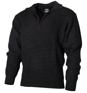 """Sweter """"Troyer"""" czarny"""