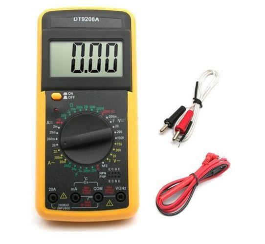 MIERNIK LCD MULTIMETR Z TEMPERATURĄ DT9208A SONDA zdjęcie 1