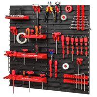 Tablica ścianka narzędziowa do garażu + 16 uchwytów, 4 półki PRO-MIX52