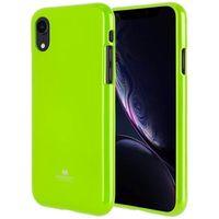 Mercury Jelly Case iPhone 11 limonkowy /lime wycięcie/hole