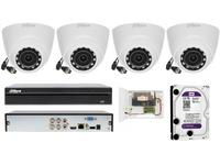 Monitoring do domu zestaw 4 kamery 2mpx DAHUA z podglądem w telefonie