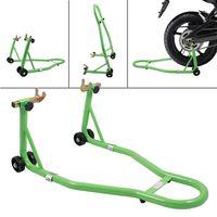 Stojak motocyklowy na tylnie koło zielony nowy 15730