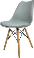 Skandynawskie krzesło KRIS FIORD z krzyżakiem szare BUKOWE NOGI