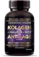 Intenson Kolagen + Hialuron + Witamina C Anti-Age Suplement Diety 90 Tabletek