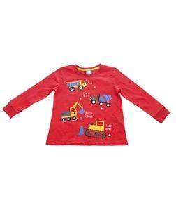PEPCO Chłopięca, czerwona piżama z samochodzikami