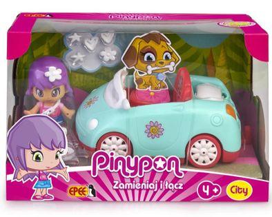 Pinypon: City - Pojazd z laleczką 7cm i akcesoriami