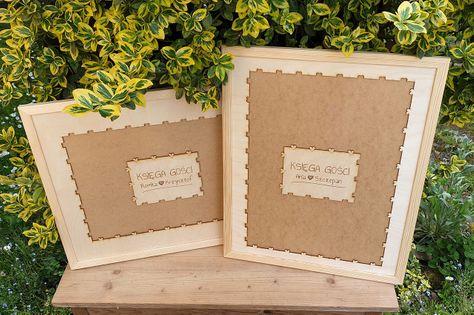 Ramka do księgi gości – puzzle, układanka na ślub