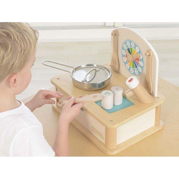 Drewniana Mini Kuchenka Dla Dzieci Masterkidz + Akcesoria zdjęcie 4