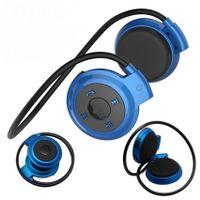 NIEBIESKIE słuchawki sport do biegania bluetooth Radio Karta Pamięci