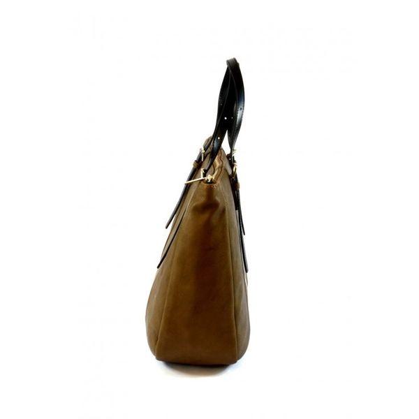 Armani Jeans torebka damska skórzana brązowa shopper na ramię zdjęcie 2