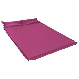 Materac dmuchany z poduszką, 130x190 cm, różowy