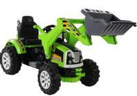 Import LEANToys Traktor na akumulator z Łyżką Koparka Zielony