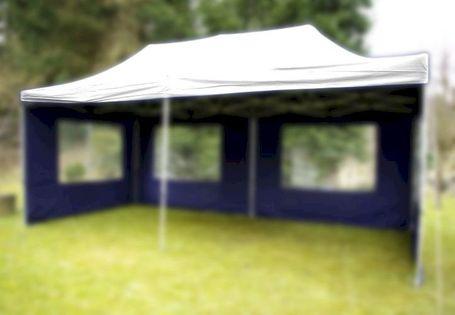 Dach do pawilonów namiotów ogrodowych automatycznych 3x6 m, biały