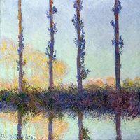 Reprodukcje obrazów The Four Trees - Claude Monet Rozmiar - 40x40