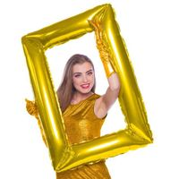 Balon foliowy RAMKA DO ZDJĘĆ złota DUŻĄ 85 cm