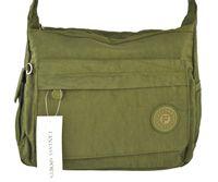 Torebka materiałowa Fantasy zielona sportowa torba listonoszka miękka