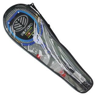 Zestaw rakietek do badmintona ROX 1005ST 2 szt. rakiet + 3 szt. lotek univ
