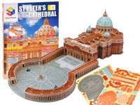 Puzzle 3D Bazylika św. Piotra Watykan 61el. ZA1578