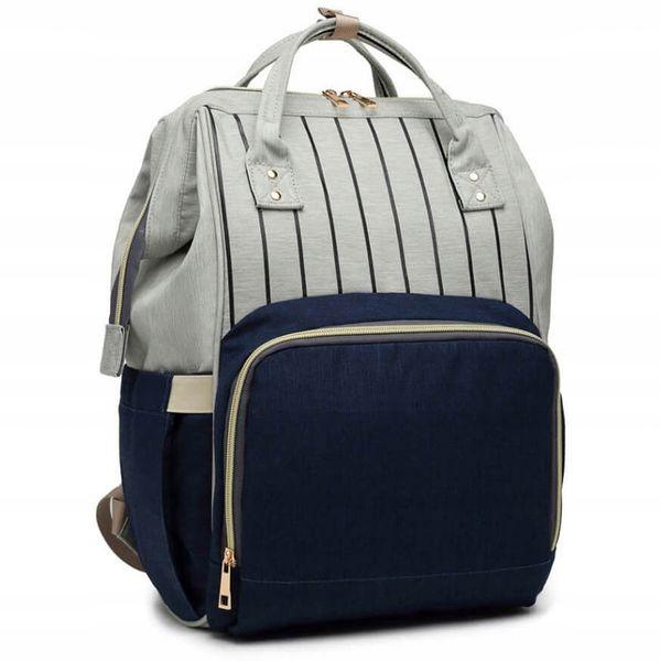 Plecak dla mamy damski elegancki vintage w paski KN61 zdjęcie 4