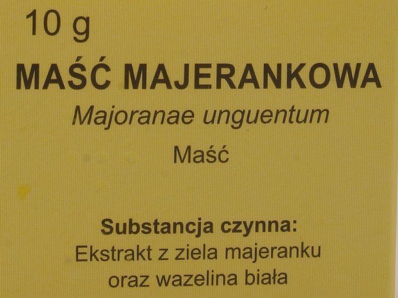 Maść majerankowa - Elissa - 10 g zdjęcie 3