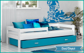 Łóżko dla dzieci HUGO COLOR 160x80  szuflada + materac