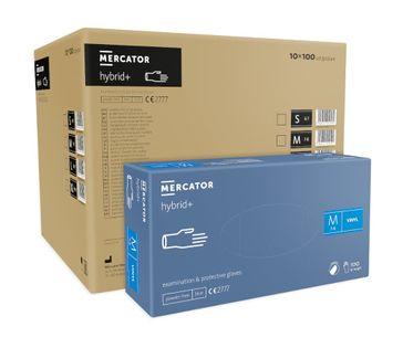 Rękawice syntetyczne MERCATOR hybrid+ M karton 10 x 100 szt