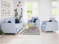 Zestaw BERGEN 3+1+1 fotel kanapa funkcja spania