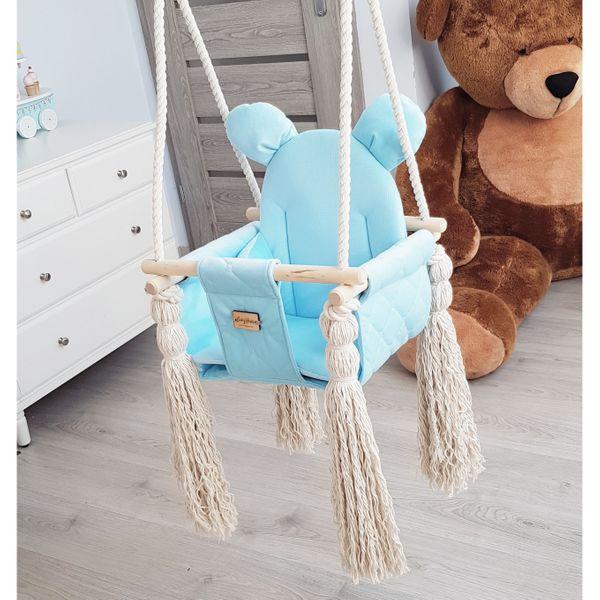 Huśtawka dla dzieci VelvetSwing – Baby Blue zdjęcie 7