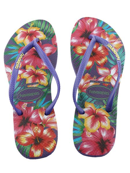 Japonki Havaianas Slim Hibisco Purple 4141590-0719 - 35/36 zdjęcie 7