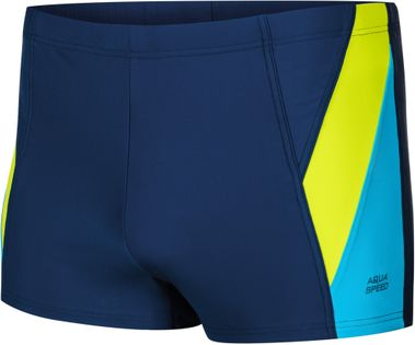 Spodenki pływackie LOGAN Rozmiar - Stroje męskie - 2XL, Kolor - Logan - 426 - granat / fluo żółty / niebieski