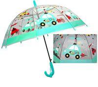Przezroczysta głęboka parasolka dziecięca TAXI, auta