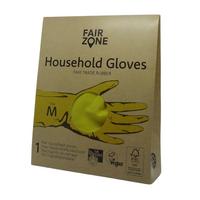 Rękawice wielorazowe do prac domowych rozm. M, naturalna guma 1 para Fair Zone