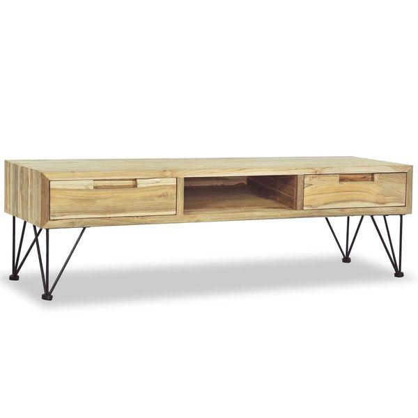 Szafka pod telewizor, 120 x 35 x 35 cm, lite drewno tekowe zdjęcie 1