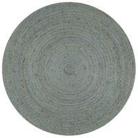 Ręcznie wykonany dywan z juty, okrągły, 90 cm, oliwkowozielony