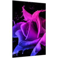 Obraz Na Ścianę 60X90 Róża Z Farb Abstrakcja Kolo