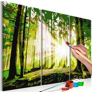 Obraz do samodzielnego malowania - Las (Wiosna)