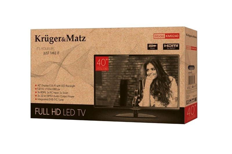 Kruger & Matz Telewizor 40 DVBT HD USB HDMI zdjęcie 5