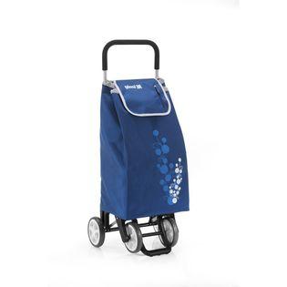 Lumarko Wózek na zakupy 30kg/56l. Twin niebieski 4 kółka!