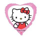 Balon foliowy HELLO KITTY różowe serce kotek