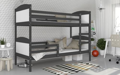 Łóżko piętrowe MATEUSZ COLOR bez szuflady 190x80 + materace na Arena.pl