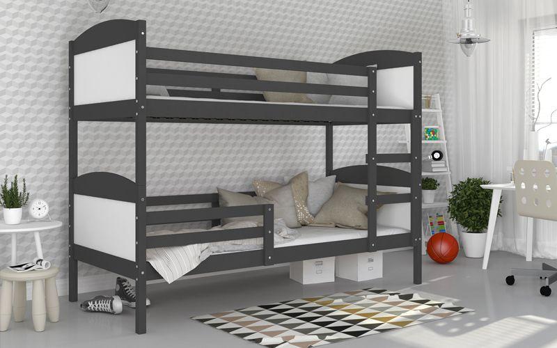 Łóżko piętrowe MATEUSZ COLOR bez szuflady 190x80 + materace zdjęcie 4