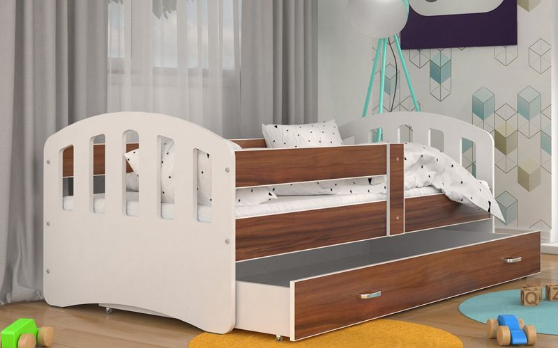 Łóżko HAPPY 140x80 szuflada + materac zdjęcie 5