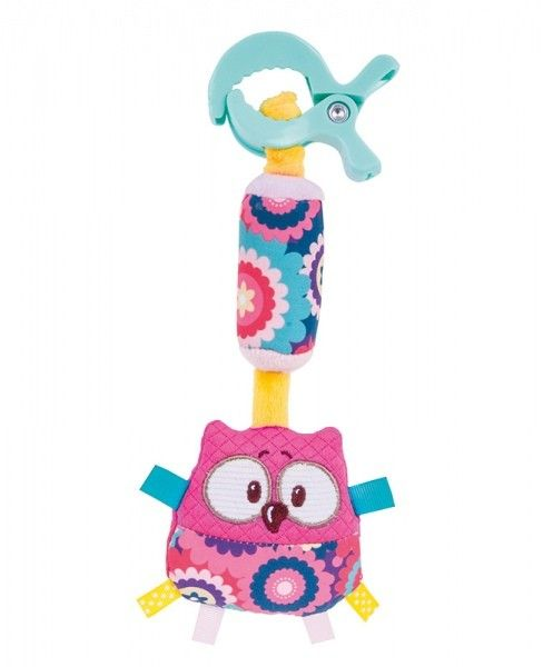 Canpol Pluszowa zabawka z dzwoneczkiem Forest Friends Kolor - Różowy zdjęcie 1