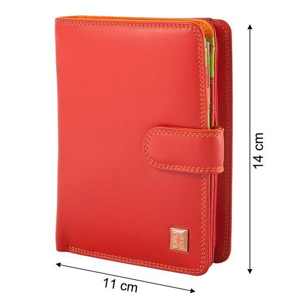 Skórzany portfel damski DuDu®, 534-1161 czerwony zdjęcie 2